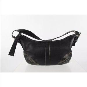 Coach 8A01 Soho Black Leather Shoulder Bag